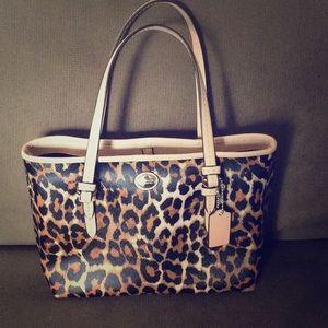 Authentic Coach cheetah print handbag